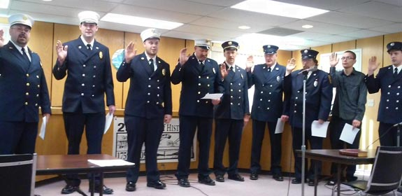 2015 Swearing in Oath Ceremony Montague Fire Dept.