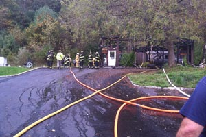 Sandyston Barn Fire