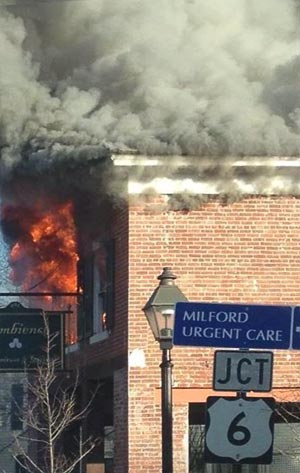 Milford, PA building fire