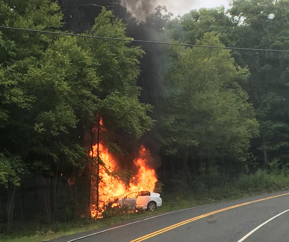 Car Fire near High Point State Park‏