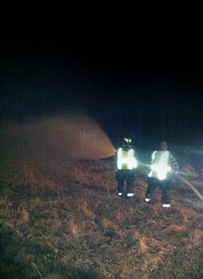 fire fighting at night