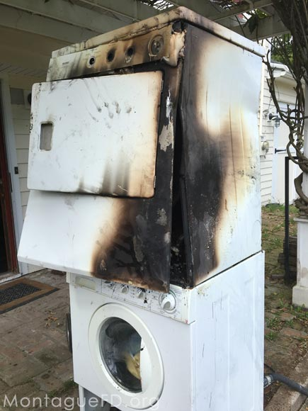 Home Dryer Caught on Fire‏