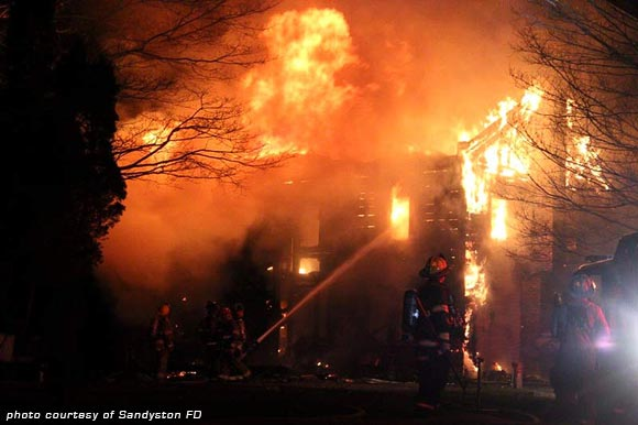 house fire Sandyston, NJ