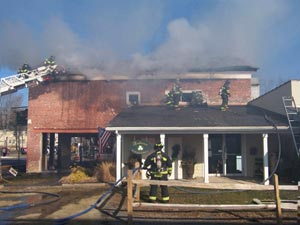 Fire at Milford, PA
