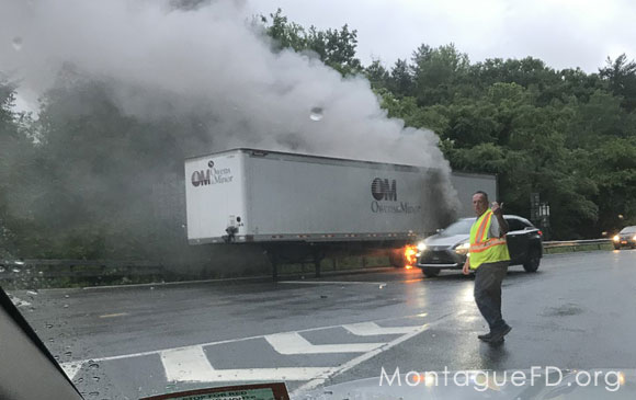 Commercial Tractor Trailer Fire on the Road‏