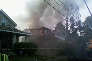 Triple House Fire